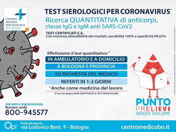 ***TEST SIEROLOGICO PER CORONAVIRUS***