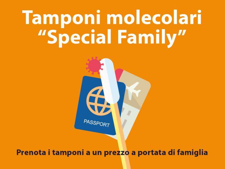 """TAMPONI MOLECOLARI PER TUTTA LA FAMIGLIA A UN PREZZO """"SPECIAL FAMILY"""". Il Centro Medico ti riserva una promozione """"Special Family"""" per """"non pagare i tamponi più del viaggio""""."""